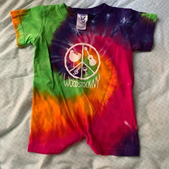 7e382cdf55268 Woodstock Tie Dye onesie